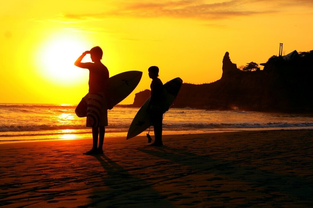 Surfers in Ecuador