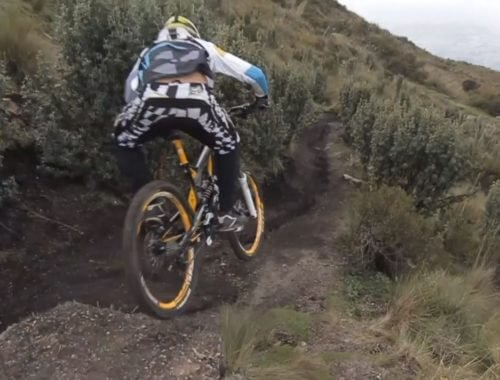 mountain biker Andes