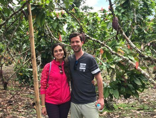 chocalate farm visit Tena Ecuador