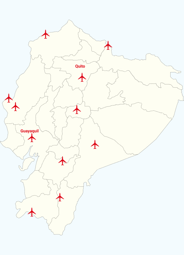 Airlines and Airports in Ecuador